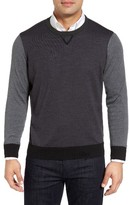 Thomas Dean Men's Colorblock Merino Wool Sweater