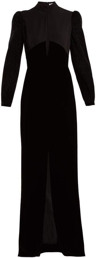 Givenchy Velvet and crepe gown