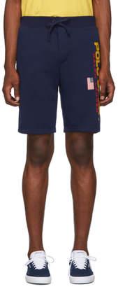 Polo Ralph Lauren Navy Fleece Shorts