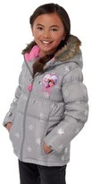Disney Frozen Girls' Grey Fur Trim Jacket - 2-3 Years