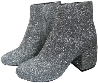 Maison Margiela Silver Glitter Ankle boots