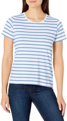 Majestic Filatures Women's Striped Short Sleeve Boxy Top