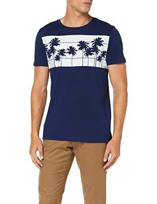 Tom Tailor Men's T-Shirt, (Cosmos Blue 10311), Medium