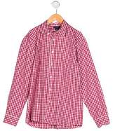 Oscar de la Renta Boys' Collared Gingham Shirt