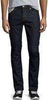 Burberry Japanese Selvedge Straight-Leg Stretch-Denim Jeans, Indigo