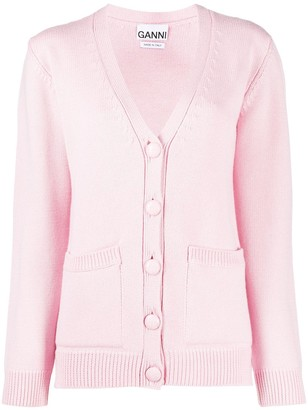 Ganni relaxed-fit V-neck cardigan