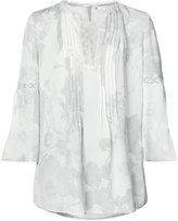 Elie Tahari cropped sleeves blouse