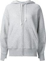 Sacai knitted panel hoodie