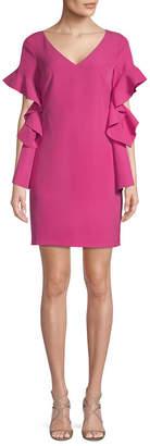 Badgley Mischka Belle By Ruffle Sheath Dress