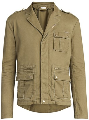 Saint Laurent Multi-Pocket Military Jacket