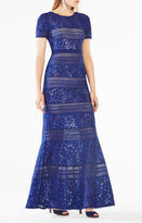 BCBGMAXAZRIA Ivetta Lace-Paneled Gown