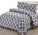 Utopia Bedding Printed Comforter Set (Grey, Queen) with 2 Pillow Shams - Luxurious Soft Brushed Microfiber - Goose Down Alternative Comforter