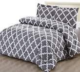 Utopia Bedding Printed Comforter Set (Grey, Queen) with 2 Pillow Shams - Luxurious Soft Brushed Microfiber - Goose Down Alternative Comforter