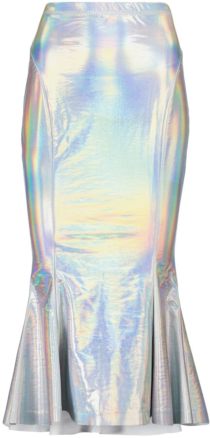 Thumbnail for your product : Norma Kamali Holographic jersey midi skirt
