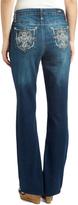Earl Jean Dark Blue Wash Embellished Bootcut Jeans