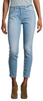 7 For All Mankind Skinny-Fit Cropped Faded Jeans