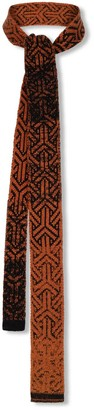 Studio Myr Knitted Cotton Tie In Classic Colours And Geometrical Patterns Elements - Rust