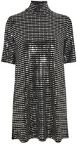Oh My Love **Disco Sequin T-Shirt Dress