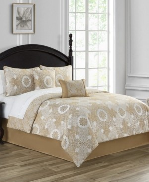 Waterford Piazza Reversible King 4 Piece Comforter Set Bedding