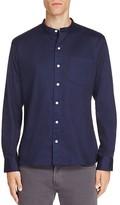 Uniform Band Collar Regular Fit Button-Down Shirt