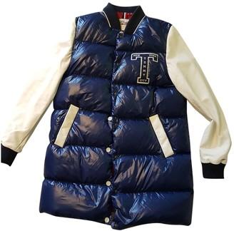 Tommy Hilfiger Blue Leather Coat for Women