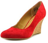 Rialto Celina Open Toe Canvas Wedge Heel.