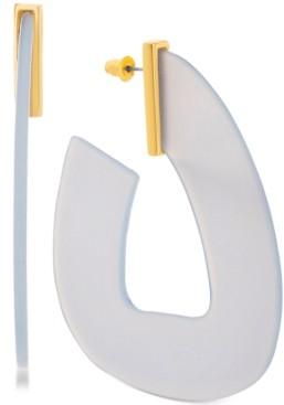 Steve Madden Women's Acrylic Hoop Gold-Tone Earrings