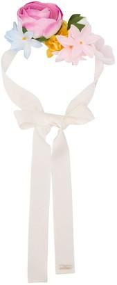 MonnaLisa 3D floral ribbon headband