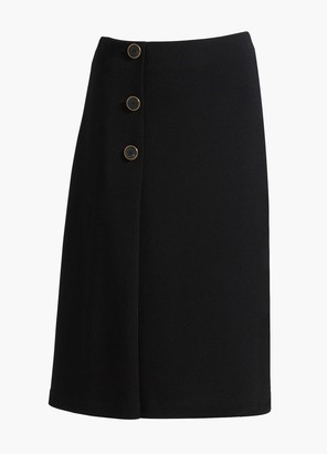 St. John Pleated Milano Knit Skirt