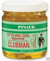 Clubman Superhold Styling Gel, 16 oz