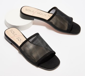 Sole Society Slide Sandals- Selinnda