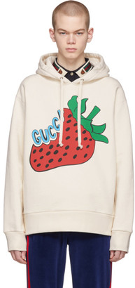 Gucci Off-White Oversized Strawberry Hoodie