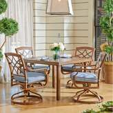 Trisha Yearwood Home Outdoor 5-Piece Dining Set in Demo Denim