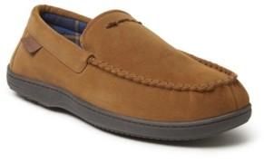 Dearfoams Jason Leather Inspired Moccasin Slipper Men's Shoes