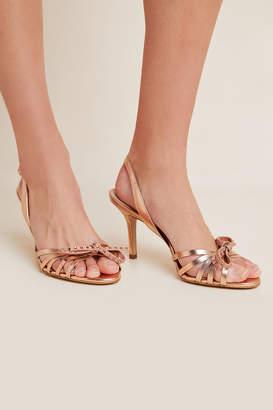 Guilhermina Bow Embellished Slingback Heels