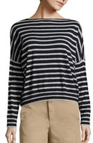 Vince Skinny Striped Cashmere Top