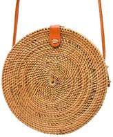 Poppy + Sage Camilla Rattan Bag - Palm Leaf