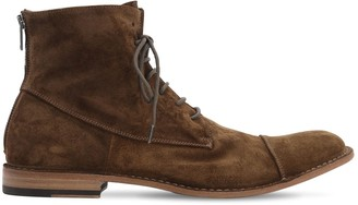 Pantanetti 25mm Zip & Lace-Up Suede Boots