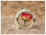 Flowers real flower, rose necklace, I love you, Real Rose Necklace, anniversary gift, keepsake