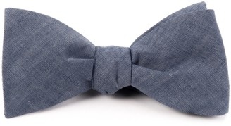 Tie Bar Classic Chambray Warm Blue Bow Tie