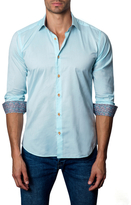 Jared Lang Solid Spread Collar Sportshirt