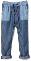 Gap TENCEL two-tone pull-on pants