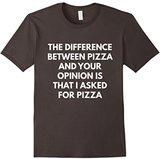 Men's Funny Pizza Sarcastic Opinion t-shirt - Food Shirts XL