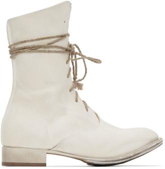 Cherevichkiotvichki White Overlap Boots
