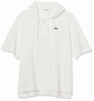 Lacoste Women's Short Sleeve Pique Hooded Polo Shirt