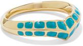 Aurelie Bidermann Apache lacquered gold-plated ring