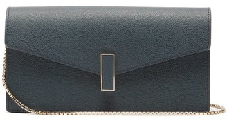 Valextra Iside Grained Leather Clutch - Navy