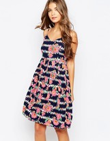 Sugarhill Boutique Floral Zig Zag Summer Dress