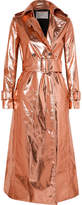 Ralph & Russo - Metallic Coated Silk-blend Trench Coat - Pink