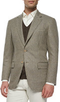 Loro Piana Madrid Check Cashmere Sport Coat, Light Brown
